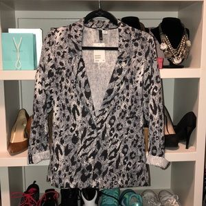 H&M Leopard print blazer